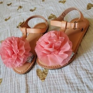 Baby Gap pink floral sandals size 7